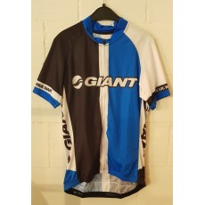 Giant Team Kurzarmtricot black/white/blue L