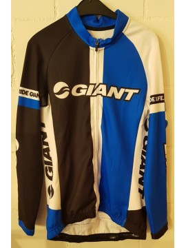 Giant Team Langarmtricot black/white/blue L