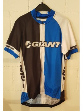 Giant Team Kurzarmtricot black/white/blue XL